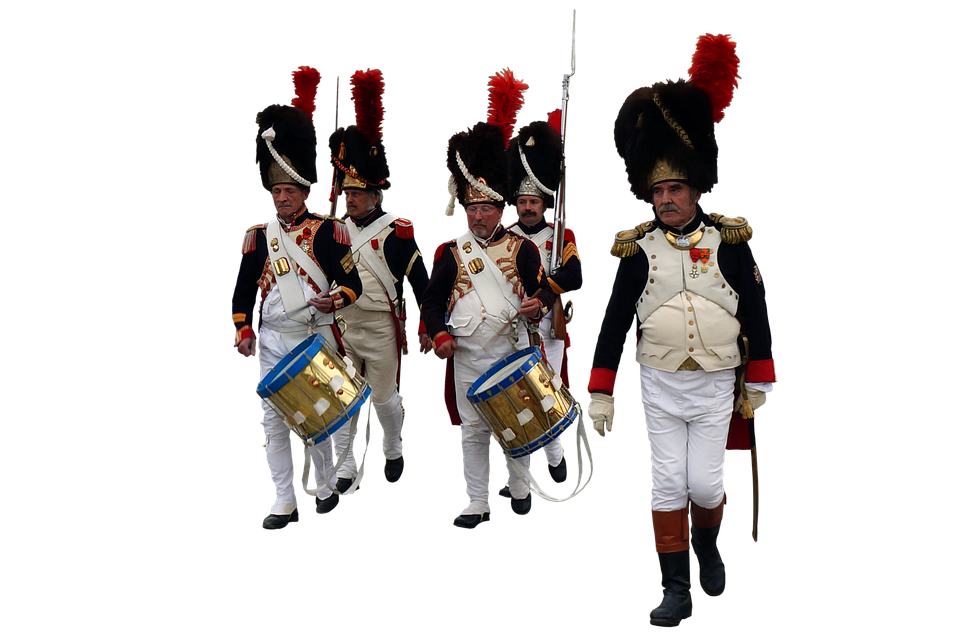 Army, Soldiers, Uniforms, Military, Drum, Riffles