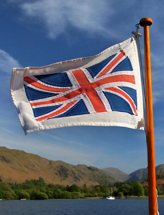 Union Jack, Ullswater, Britain, England, Union Flag
