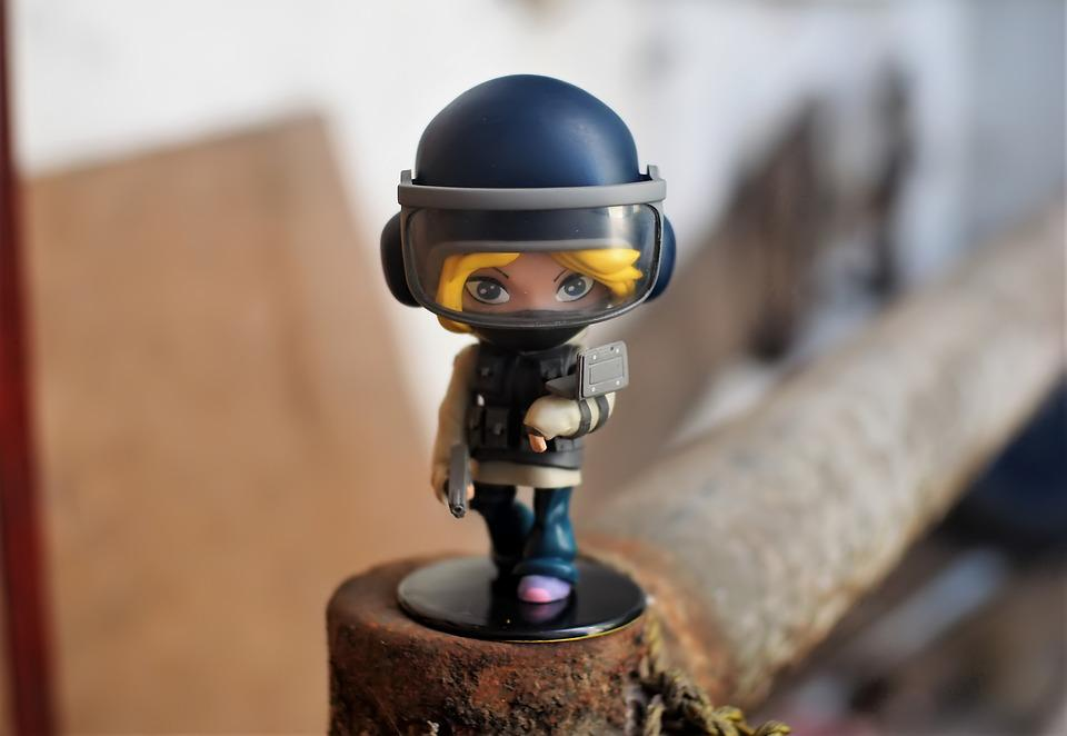 Young, Girl, Toy, Figurine, Police, Swat, Special, Unit
