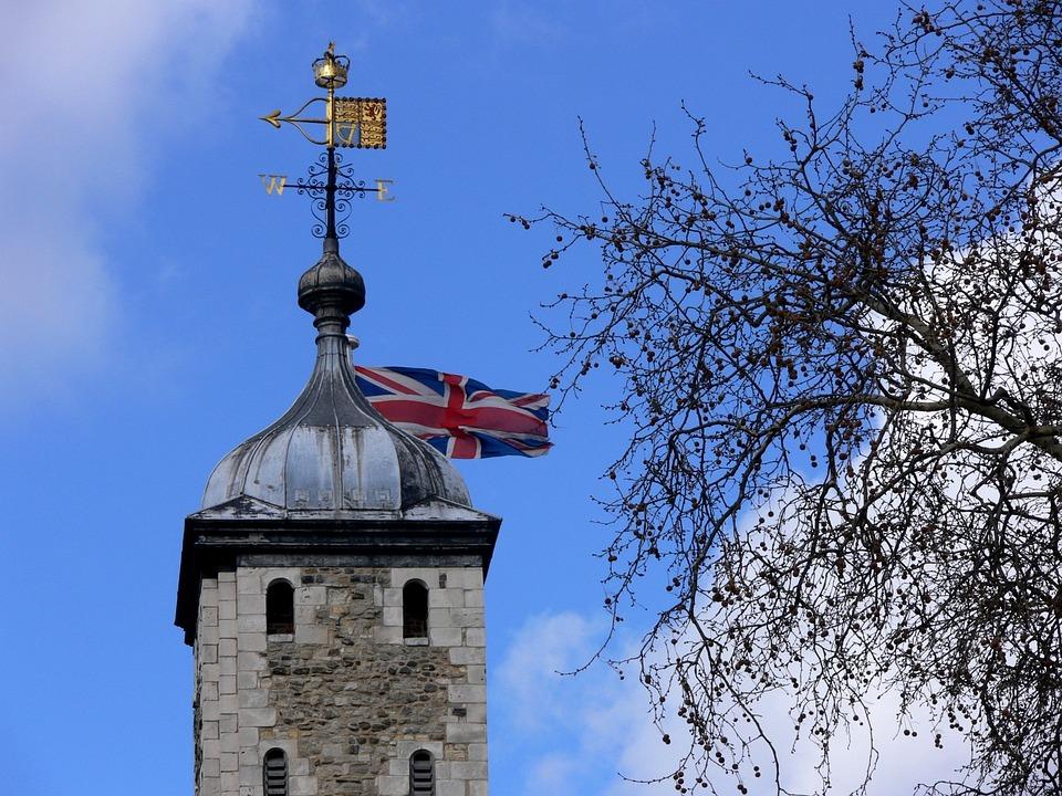 Flag, Union Jack, United Kingdom, Britain, Tower