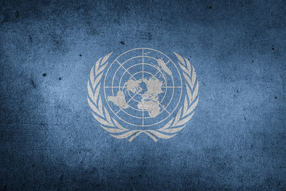 United Nations, World, Flag, Un, Grunge, Blue World