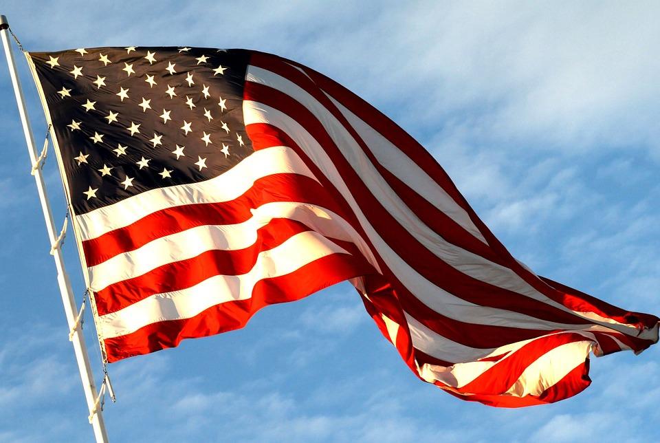 American, Flag, Usa, United States Of America, White