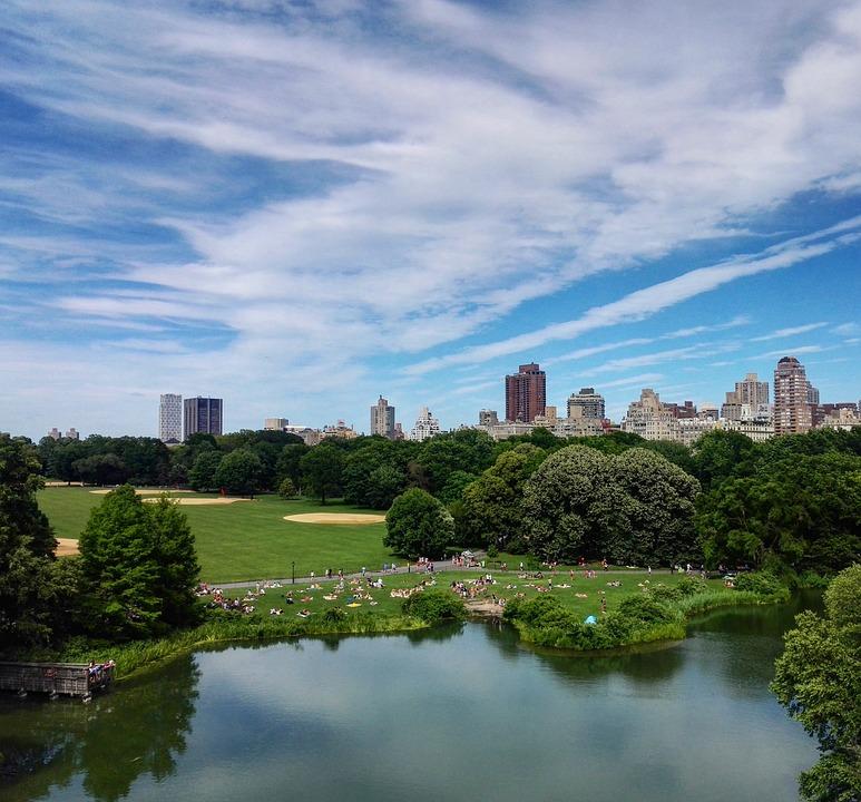 Park, Nature, Landscape, United States, New York, Sky