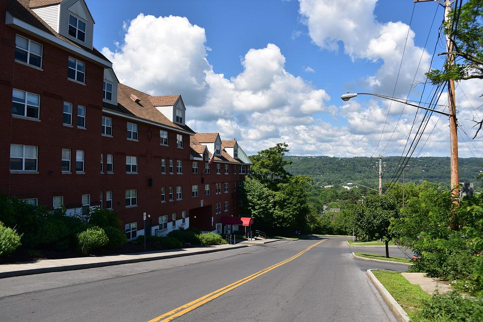 The Small Town Scenery, United States, Village, Sky