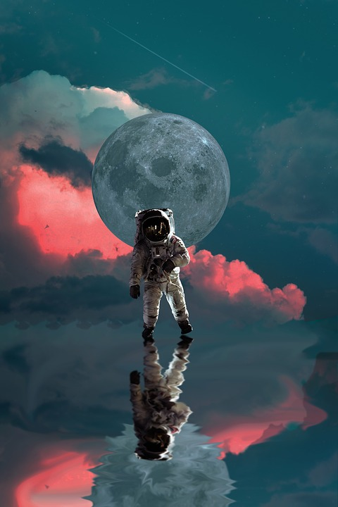 Astronaut, Moon, Space, Nasa, Planet, Star, Universe