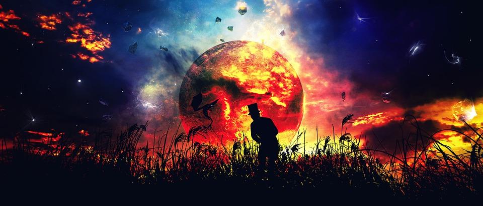 Galaxy, Silhouette, Universe, Space, Sky, Cosmos, Dark