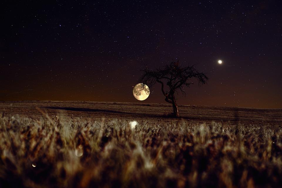 Sky, Star, Moon, Venus, Universe, Night, Night Sky