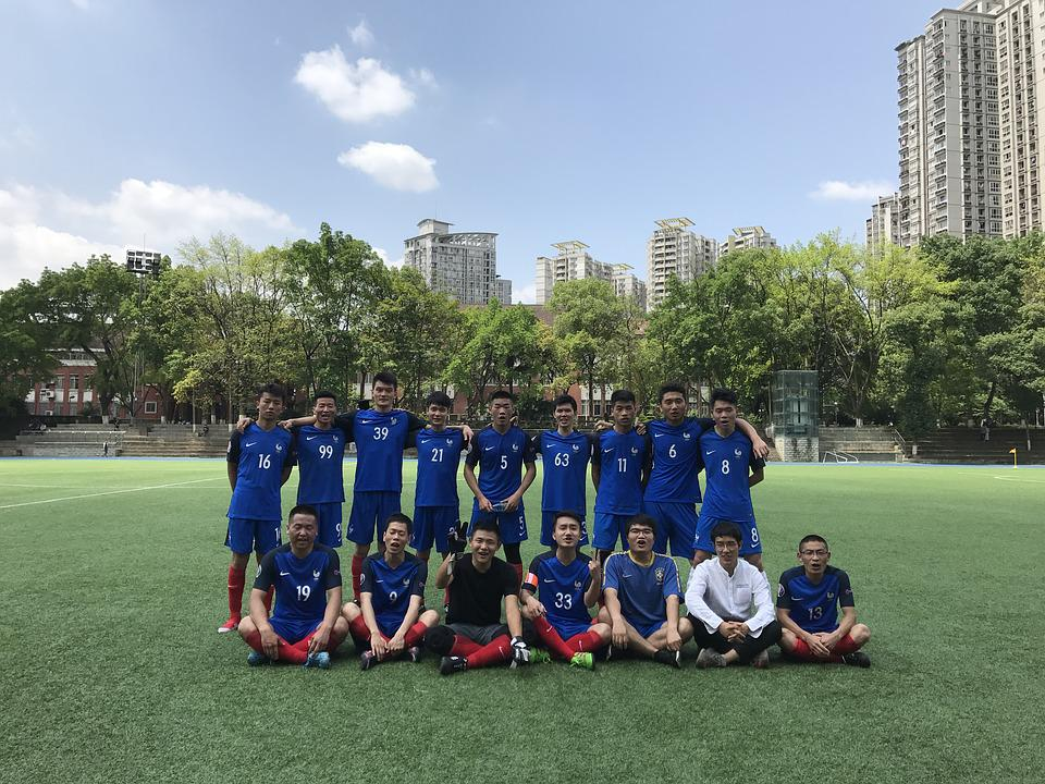 University Student, Football, Playground