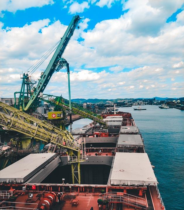 Loading, Unloading, Bulk Carrier, Grain, Japan, Ship