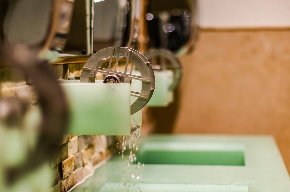 Faucet, Water Mill, Bathroom Sink, Design, Unusual