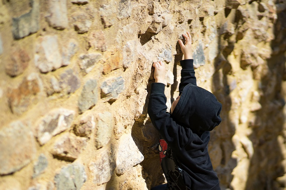 Boy, Climbing, Reaching, To The Top, Up, Activity