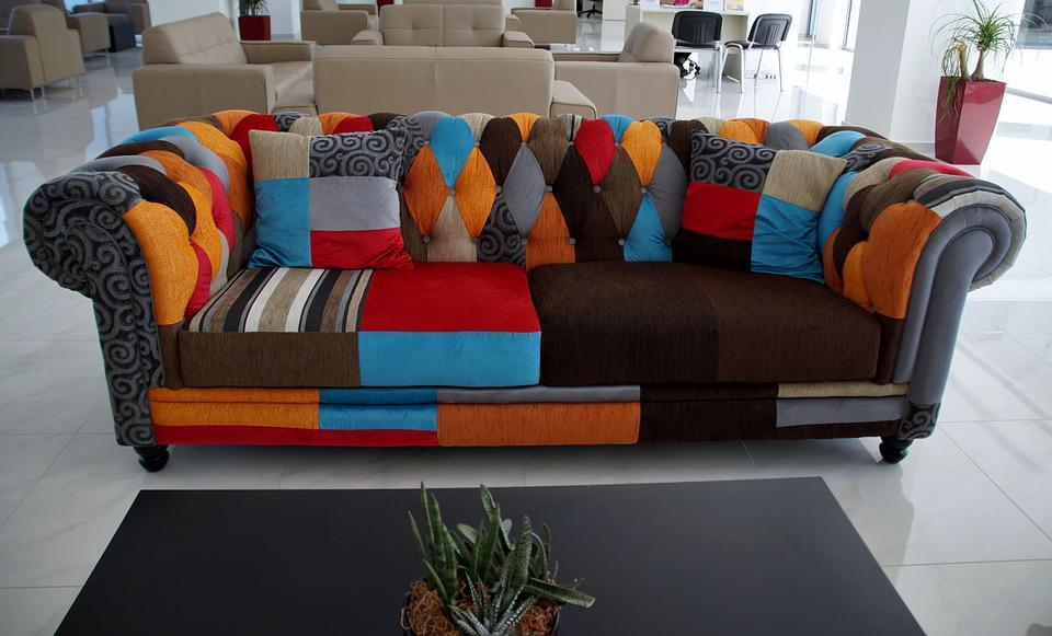 Sofa, Colored, Upholstery, Convenient, Sit, Couch