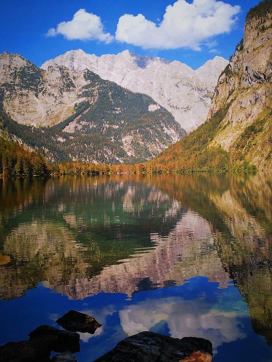 Berchtesgaden, Königssee, Upper Lake, Mountains, Water
