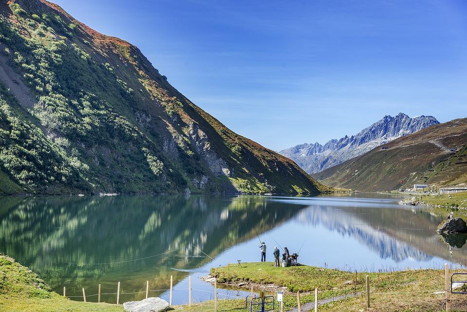 Upper Lake, Oberalp Reservoir, The Oberalp Pass