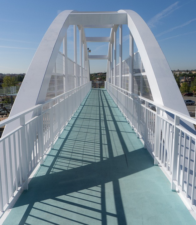 Bridge, Cross, Metal, Path, Architecture, Urban