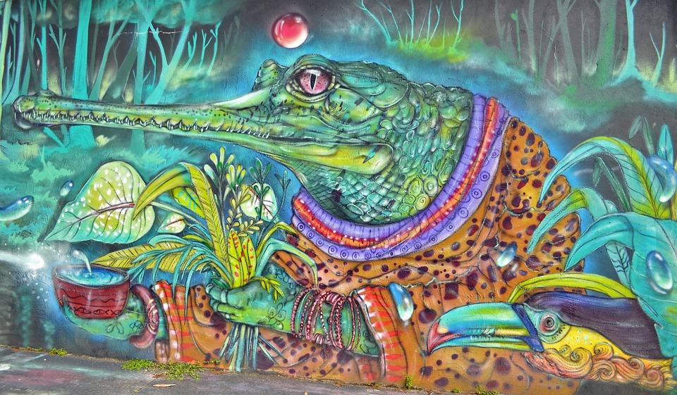Alligator, Legends, Street Art, Urban Art, Spray