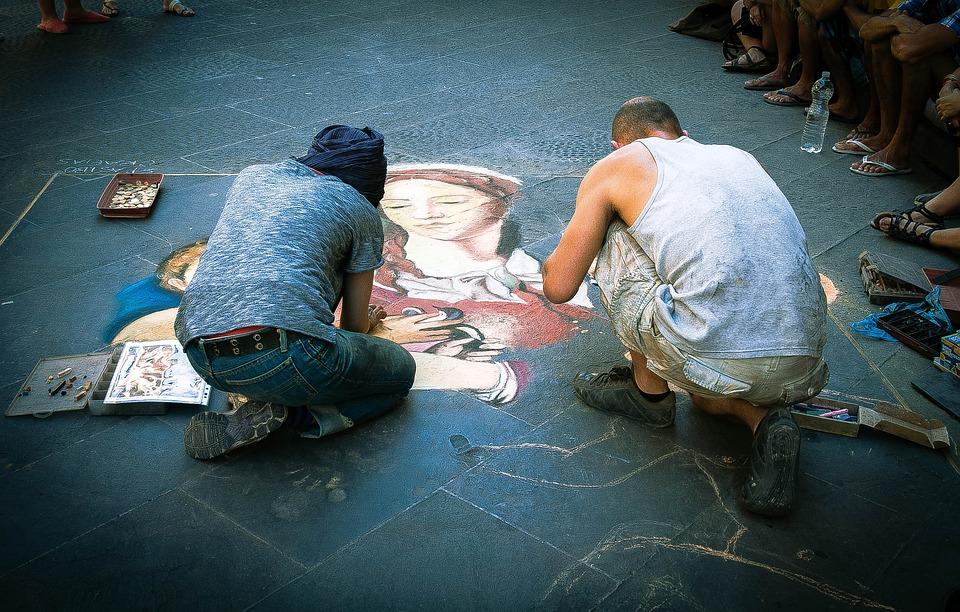 Street Painters, Street, Florence, Urban Art, Landscape
