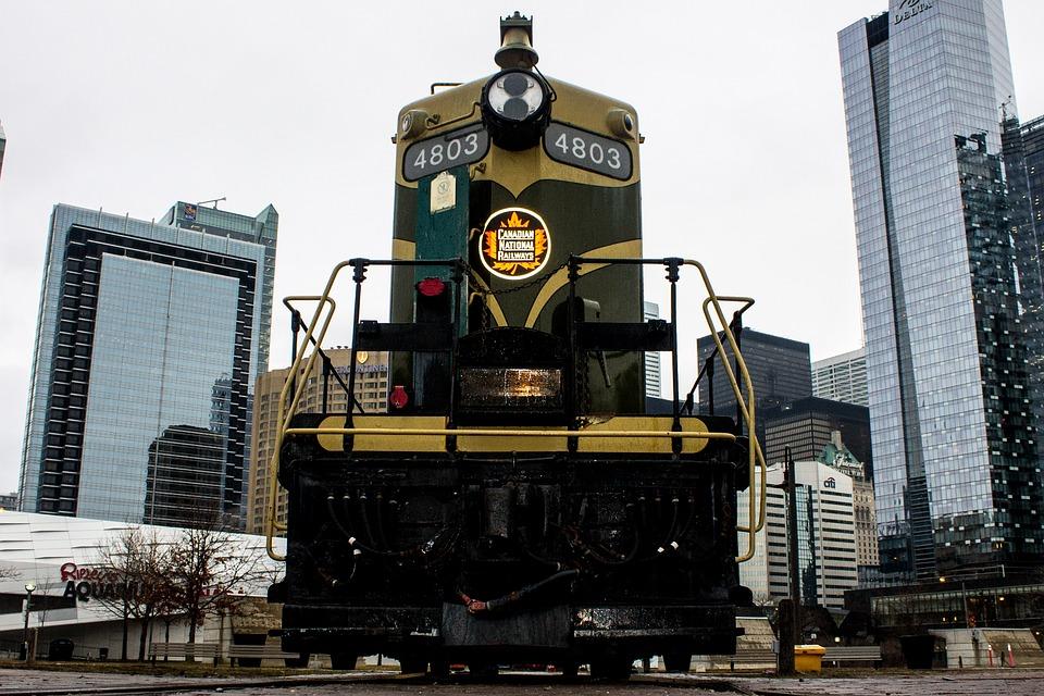 Train, Toronto, Canada, City, Urban, Transportation