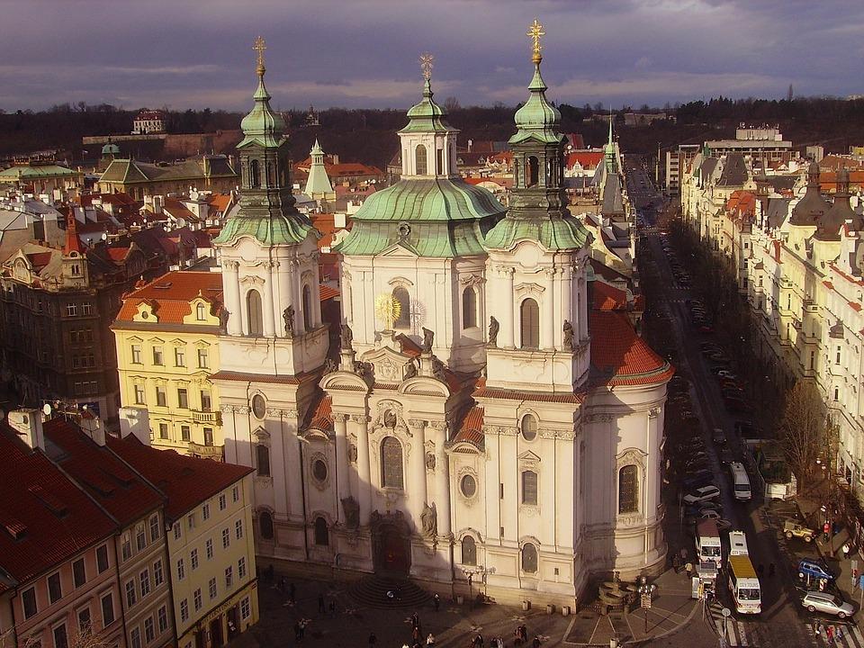 Prague, Czech Republic, City, Urban, Buildings, Church