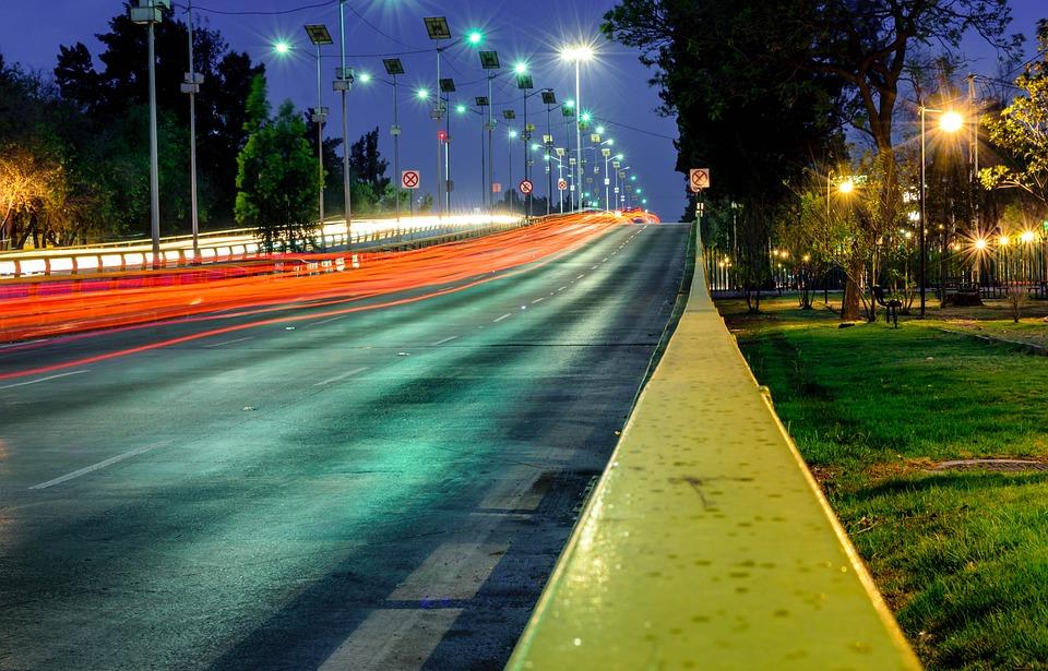 City, Night, Long, Architecture, Urban, Lights, Winter