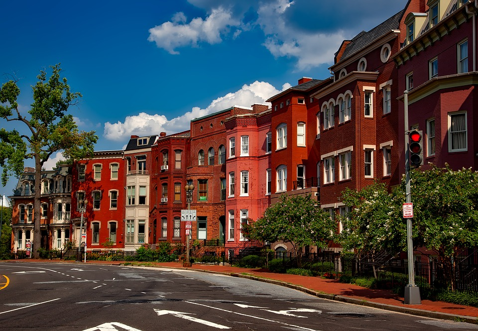 Washington Dc, C, City, Cities, Urban, Row Houses, Old