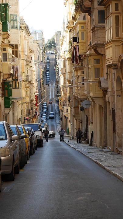 Street, Malta, Road, Cars, Vehicles, Urban, City