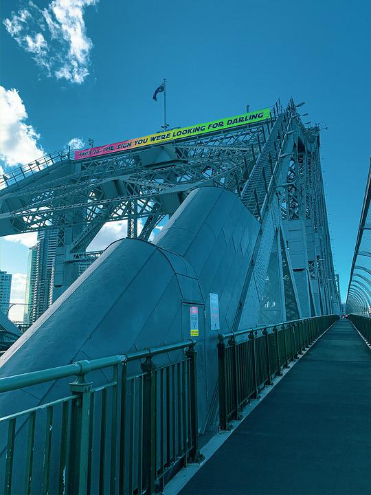 Bridge, Architecture, Structure, Urban, City, Brisbane