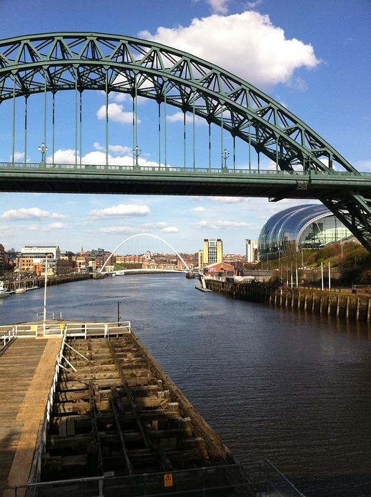 Iron, Bridge, Newcastle, River, Tyne, Urban, Gateshead