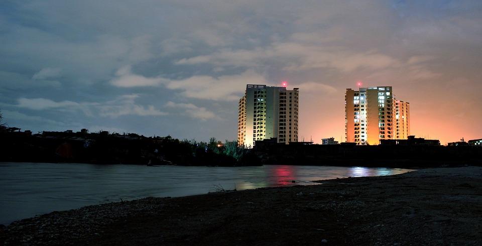 Building, Reflection, Night, Light, Urban
