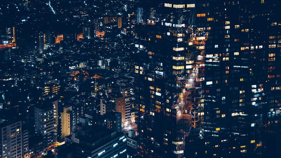 Buildings, City, Cityscape, Lights, Night, Urban
