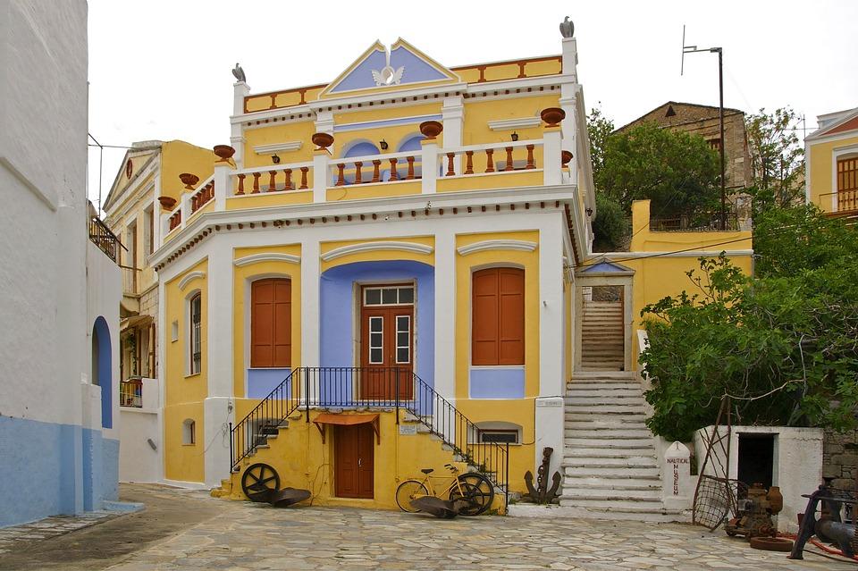 Symi, Greece, Urban, Village, Town, Museum, Buildings