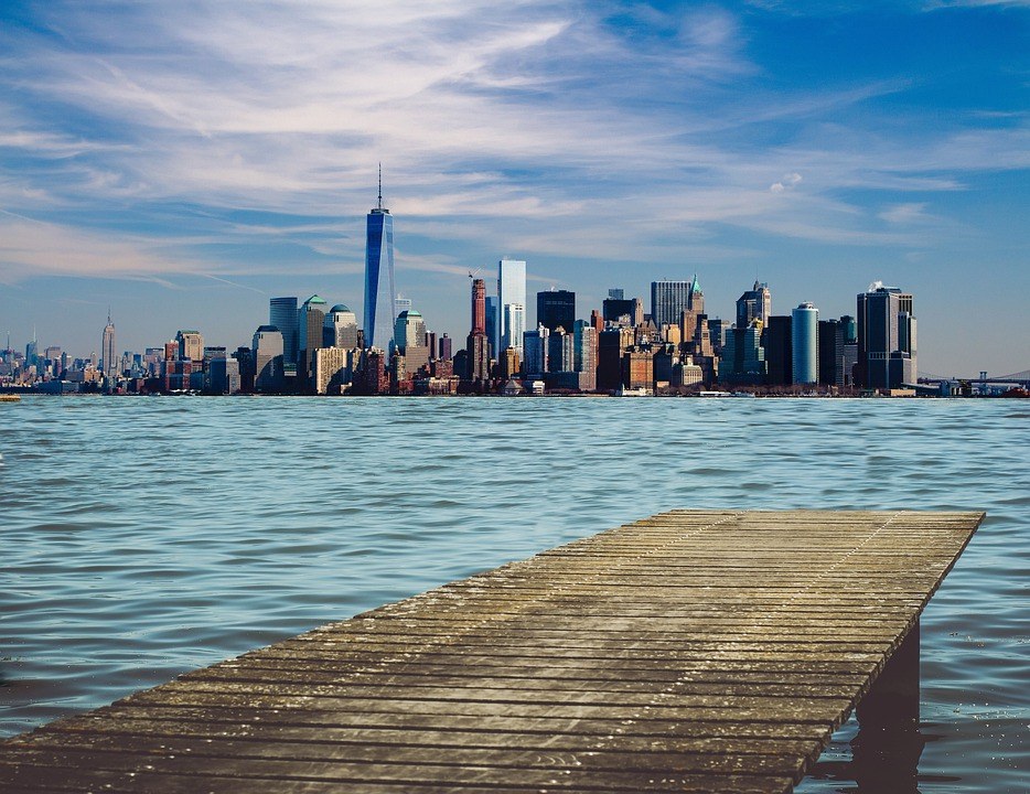 New York, Dock, Skyline, Cityscape, Manhattan, Urban