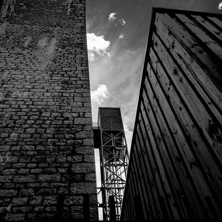 No Person, Black And White, Architecture, City, Urban