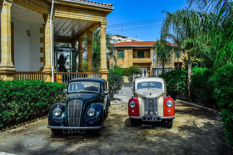 Old Cars, Classic, Outdoors, Street, Yard, Urban, Style