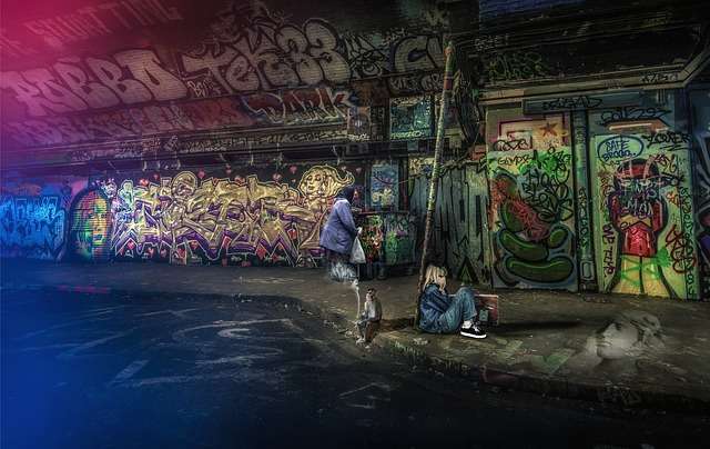 Architecture, City, Urban, Graffiti, Painting, Outdoors