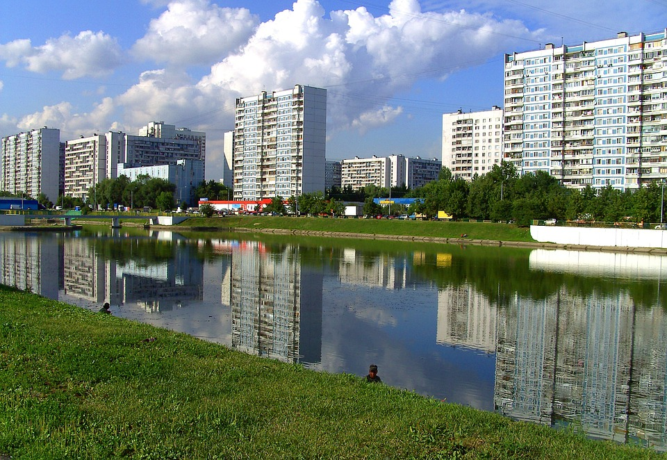 Moscow, Russia, Buildings, Urban, Skyline, River, Canal