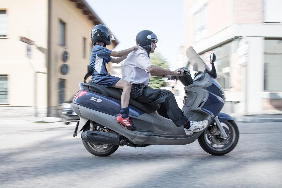 Scooter, Street, Traffic, Helmet, Italy, Urban, City