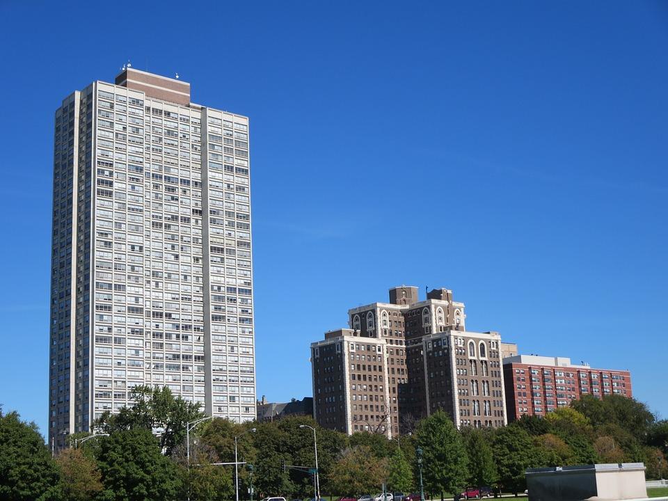 Buildings, Skyline, Chicago, Sky, Cityscape, Urban