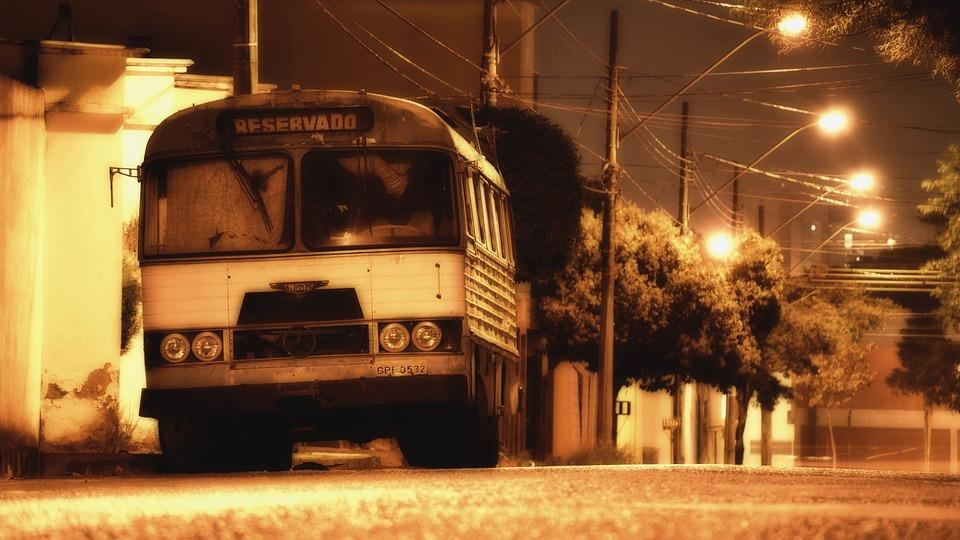 Street, Night, Bus, Urban, Light, Classic, Old