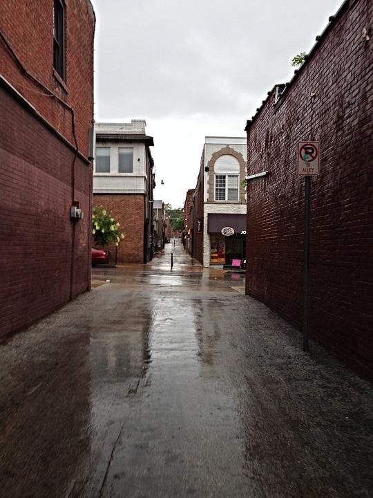 Alley, Rainy Day, Street, Urban