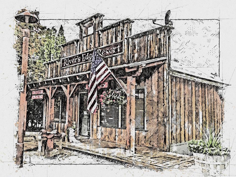 Building, Architecture, Wooden, Wild West, Style, Urban