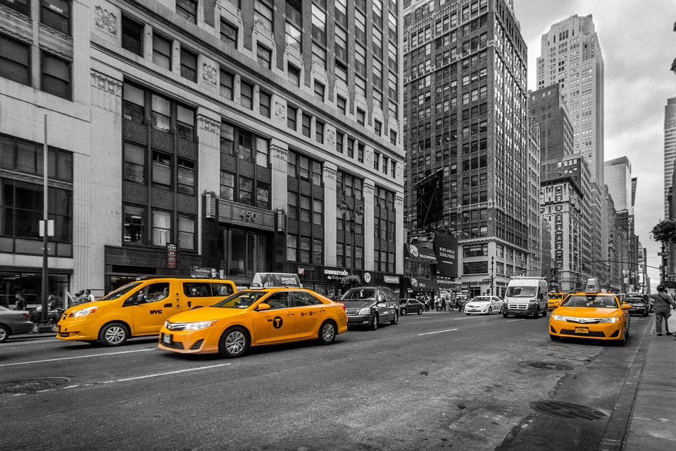 New York, Cab, Cabs, Taxi, Urban, City, Street