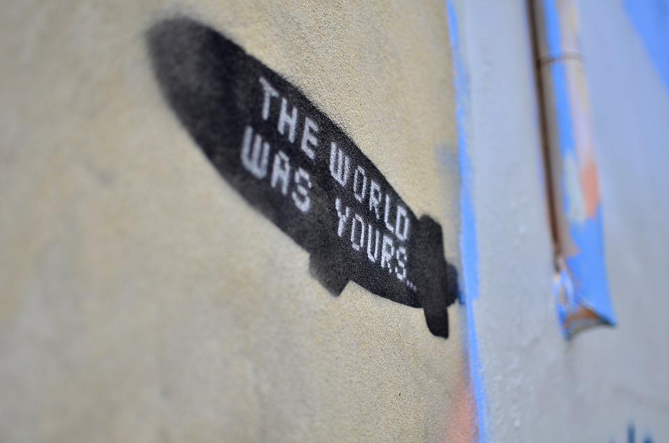 Graffiti, Stencil, Grunge, Urban, Texture, Zeppelin