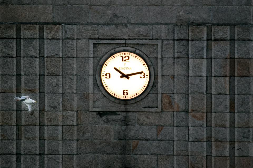 Clock, Tower, Hour, Urban, Building, Stone, Facade