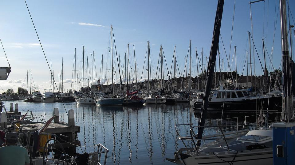 Port, Boats, Masts, Ship, Urk