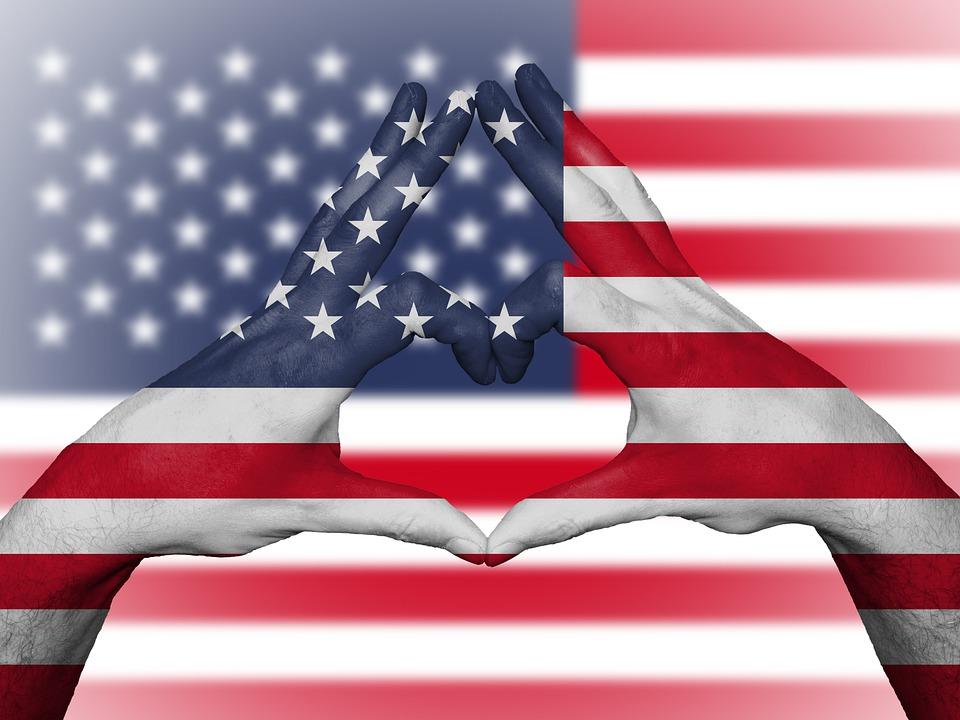 Usa, Us, United States, Flag, Stars And Stripes, Love