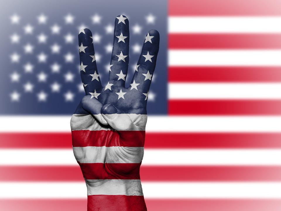 Usa, Us, United States, Flag, Stars And Stripes, Hand