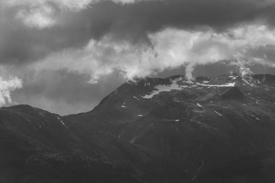 Mountain, Mountains, Alaska, Usa, America, Clouds