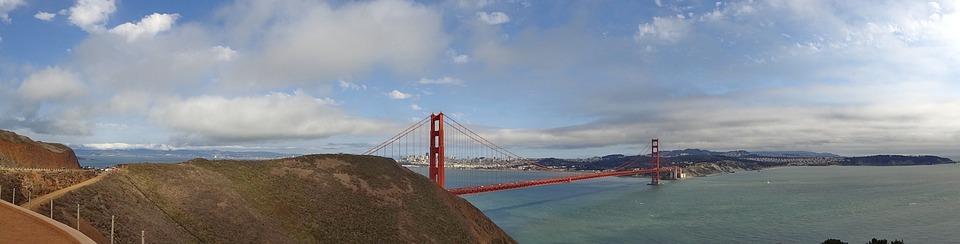 Usa, America, San Francisco, Golden Gate Bridge