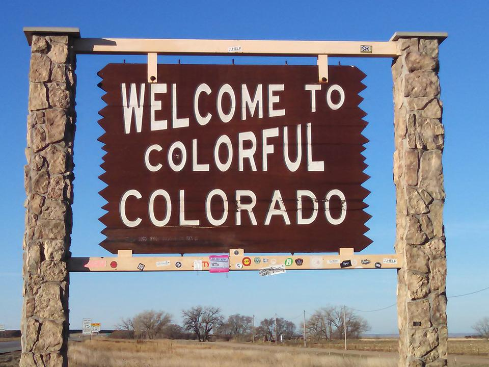 Colorado, Sign, Welcome, Travel, Usa, America, Road